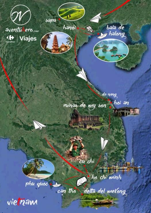 2 Aventuhero - Mapa Vietnam